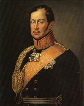 Portrait of King Frederick William III of Prussia in blue military uniform