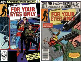 Two comic books covers, both titled
