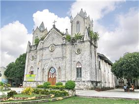The San Isidro Labrador Church located in the center of the town of San Fernando