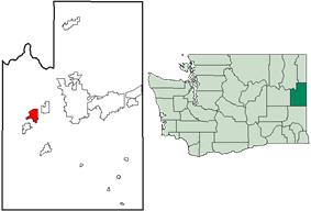 Location of Fairchild AFB, Washington