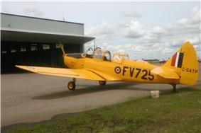 Fairchild PT-26B Cornell (C-GATP / FV725) in flying condition at the BCATP Hangar No. 1