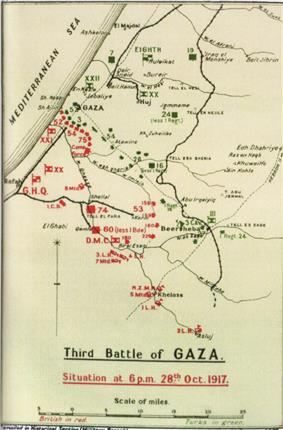 Military map of Gaza