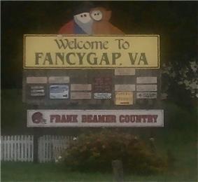 Fancy Gap welcome sign