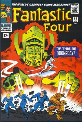 Comic-bood cover with green monster