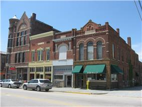 Farmland's downtown is listed on the National Register of Historic Places
