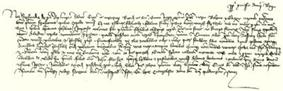 King Sigismund's charter of grant of 1409