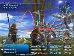 A man wielding a sword and a woman wielding a spear fight two armored horse-like monsters.