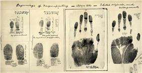 Fingerprints taken c.1859-60 by William James Herschel