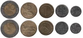 Set of Finnish coins