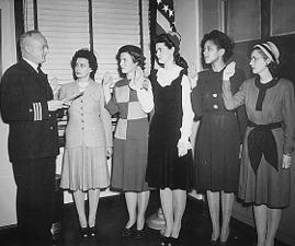 Phyllis Mae Dailey being sworn in as the first formally appointed African American Navy Nurse Corps Officer.