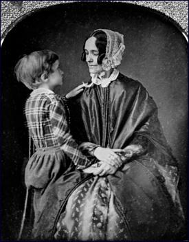 Benjamin Pierce with his mother Jane