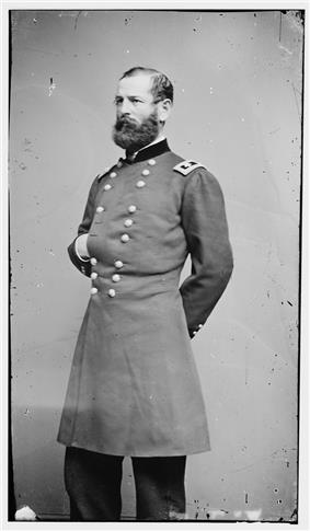Major General Fitz John Porter standing, with most of body shown (taken sometime between 1855–1865)