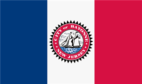 Flag of Bayonne, New Jersey