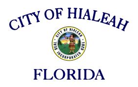 Flag of Hialeah, Florida