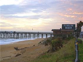 Scenic view of Flagler Beach Pier