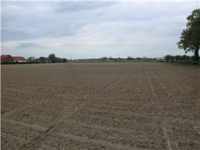 Flat field, site of the battle