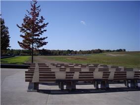 Benches at the Flight 93 Memorial