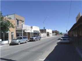 Main Street of the original town-site of Florence. The town-site was listed in the National Register of Historic Places on October 26, 1982, reference #82001623.
