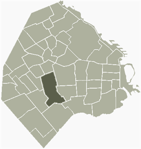 Location of Flores within Buenos Aires
