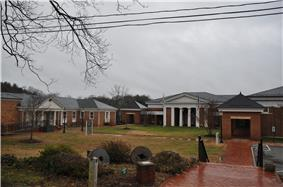 Fluvanna County administrative and legal buildings in Palmyra