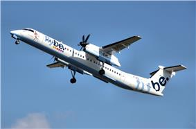 Flybe dash8 g-jecl takeoff manchester arp.jpg