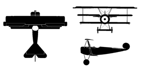 Orthographically projected diagram of the Fokker Dr.1