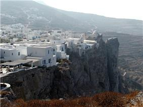 Cliffs at Chora on Folegandros