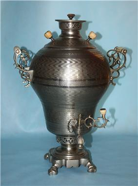 Russian decorated samovar