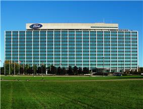 Ford Motor Company World Headquarters in Dearborn, known as the Glass House
