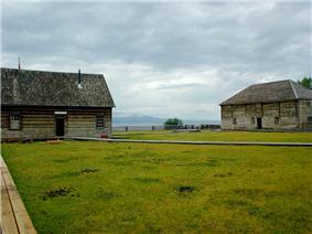 Fort St. James - field and boardwalks