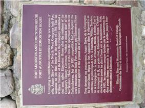 Fort Augustus and Edmonton House plaque