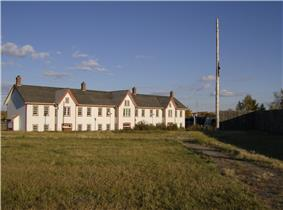 Part of the Fort Calgary historic site. This is a year 2000