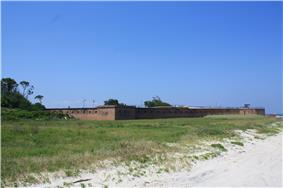 Fort Gaines on the eastern end of Dauphin Island