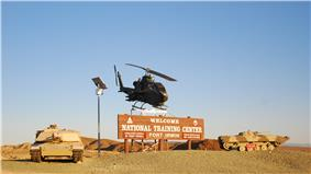 Welcome sign at Fort Irwin National Training Center