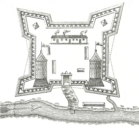 1750s plan of Fort Saint-Jean