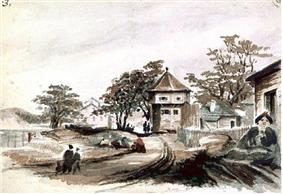 Watercolour of Fort Victoria in 1860