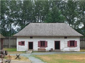 The Fort Langley storehouse