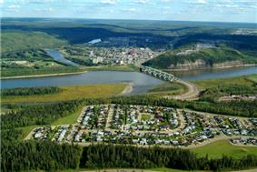 Aerial view of Fort McMurray