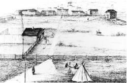 1877 sketch of Fort Livingstone