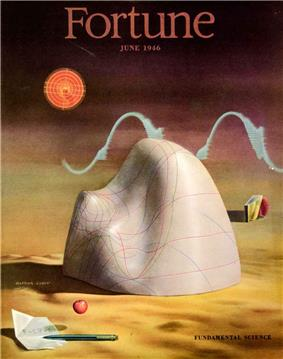 Cover of June 1946 issue of Fortune magazine, showing an artist's rendition of Gibbs's thermodynamic surface for water