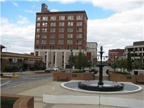 Fountain Square, Arcue Building in background.