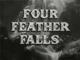 Alt= series titles over a waterfall