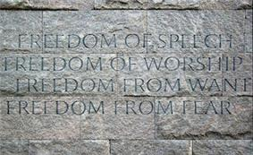 Four Freedoms Wall, Franklin D. Roosevelt Memorial