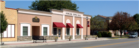 Fowler's police department, town hall and public library