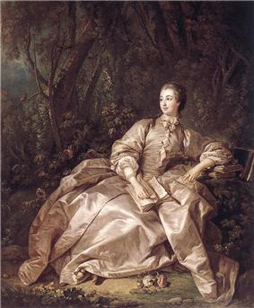 François Boucher, Madame de Pompadour, Mistress of Louis XV (1758).jpg