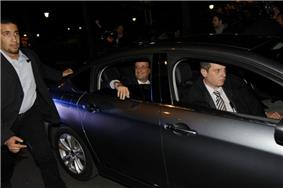 French President with his bodyguards
