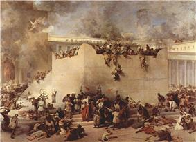 The Second Temple in flames