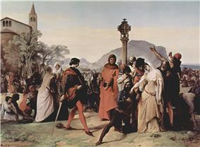 Sicilian Vespers (1846), by Francesco Hayez