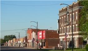 Downtown Franklin, west side of 15th Ave, looking south from between M and N Streets, 2010
