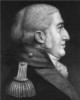 black & white portrait of Franklin Wharton